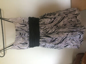 White and black dress size 12