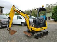 JCB 8018 CTS EXCAVATOR DIRECT COUNCIL 2014 1297 HOURS