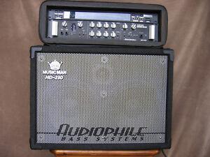 Ernie Ball 500w Bass Amp + 2X10 Cab + Korg DTR-1 Tuner + Rack
