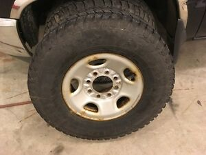 4 Studded Tires on wheels - 265/75/16