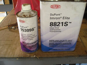 Dupont Imron 8821S clearcoat and 15309S activator. never opened.