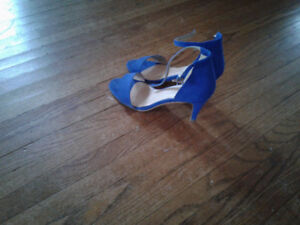 Suede high heels size 7