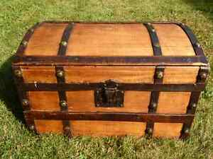 Antique Refinished Trunk - perfect size for coffee table