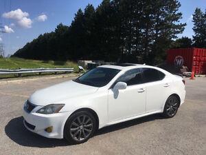 2008 Lexus IS WHITE Sedan