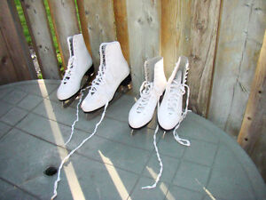 2 pairs of lady/girl figure skates