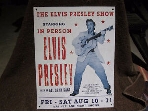 Elvis metal sign