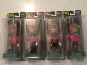 Tiger Woods 4 each bobble heads