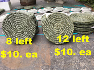 15 inch Rope Pavers I Made By Hand