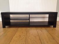 TV Stand Black Wooden Excellent Condition