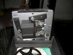 Bell & Howell Autofeed Super 8 8mm Projector, Table and Screen
