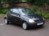 ONLY 35000 MILES!!! BLACK 2006 FORD KA 1.3 3DR, 1 YEARS MOT. WARRANTY