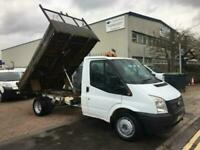 2012 Ford Transit TDCi 100ps [DRW] Euro 5 FLATBED TIPPER SENSIBLE MILES NEW TIMI