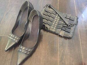 Nine West ladies shoes with bag set
