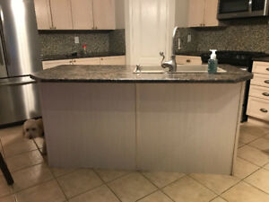Kitchen Island with counters,sink and faucet