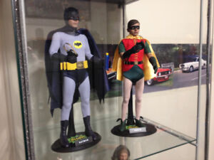 HOT TOYS 1/6 SCALE BATMAN AND ROBIN 1966. $425 FOR BOTH.