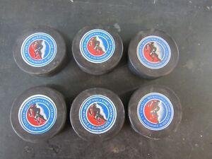 HOF ORIGINAL 6 HOCKEY PUCKS Peterborough Peterborough Area image 2