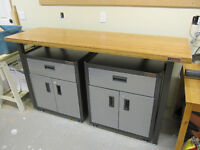 Gladiator Garage Works Workbench and 2 Cabinets - Like New -