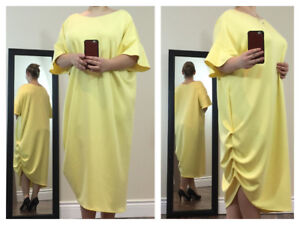 Gorgeous Asymmetrical Maxi Dresses With Ruffled Side and Sleeves