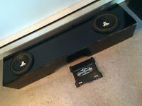 "Two 10"" JL Audio Subs in Nissan Titan Box & MTX Thunder 500W Amp"