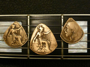 GREAT GIFT!  Guitar Picks Handcrafted From Vintage Coins