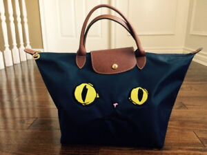Longchamp Navy Large Top handle bag - Le Pliage Miaou