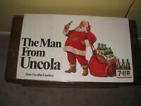 Vintage 7 UP Sign. Santa The Man from Uncola. 1968.