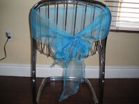 Organza, turquoise - light blue chair bows