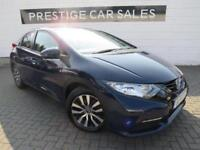 2014 Honda Civic 1.6 i-DTEC S 5dr (dab, bluetooth, premium audio) Diesel blue Ma