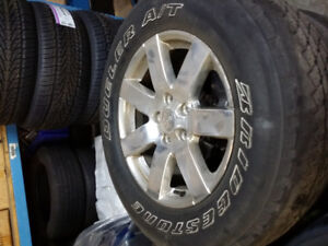 Used Original Rims and Tires for 2008 and Up Jeep Wrangler.