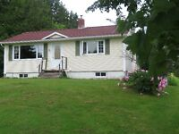 Bungalow 860sqft ~ 2 acres with barn & New Double Car Garage
