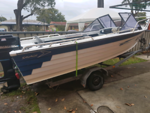 14ft aluminum savage boat for sale