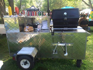 FULLY LOADED HOT DOG CART