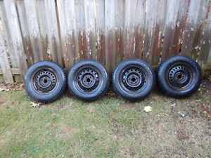 4 Goodyear Nordic Winter Tires with Rims Cambridge Kitchener Area image 1