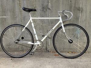 Custom fixie bike, superlight ChrMoly frame, high-end components