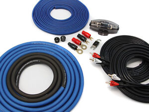 KnuKonceptz TRUE 4 Gauge 4 Channel Kolossus OFC Amp Installation Wiring Kit