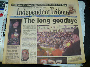 NASCAR Dale Earnhardt Tribute Home Town Paper February 26 2001
