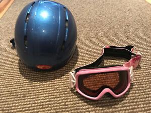 Ensemble casque de ski Salomon & lunettes Smith (enfants 6-9ans)