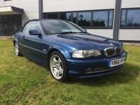 2001 BMW 330CI 3.0 PETROL AUTOMATIC CONVERTIBLE BLUE