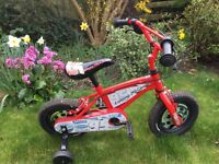 12 inch bicycle for beginners with removable stabilizers