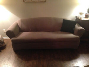 Comfortable couch and love seat set