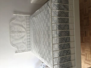 Double bed-frame + mattress + box for sale (Everything must go!)