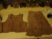 SUEDE LEATHER 2 PC OUTFIT