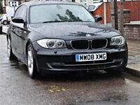 £30 Tax -- 2008 BMW 1 Series 118 d SE Diesel -- CREAM LEATHER -- MOT March 2019