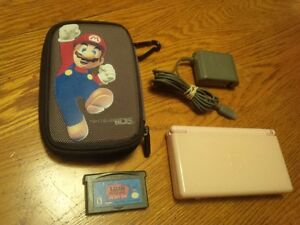 Nintendo DS Lite, with charger, case, and game