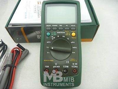 Mastech Ms8226 Digital Multimeter - Rs232 Temperature