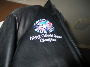Add 20151992 world series leather coat custom made one of a kind