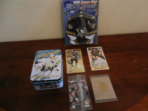 Mario Lemieux Various Collectibles Hockey cards, Jersey,Coin etc