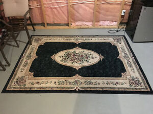Large Green & Beige Carpet: $40 OBO