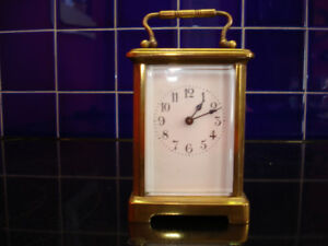 French Carriage Clock-Brass Case