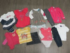Lot Vêtements printemps fille 9 - 12 mois - Tommy, Krickets